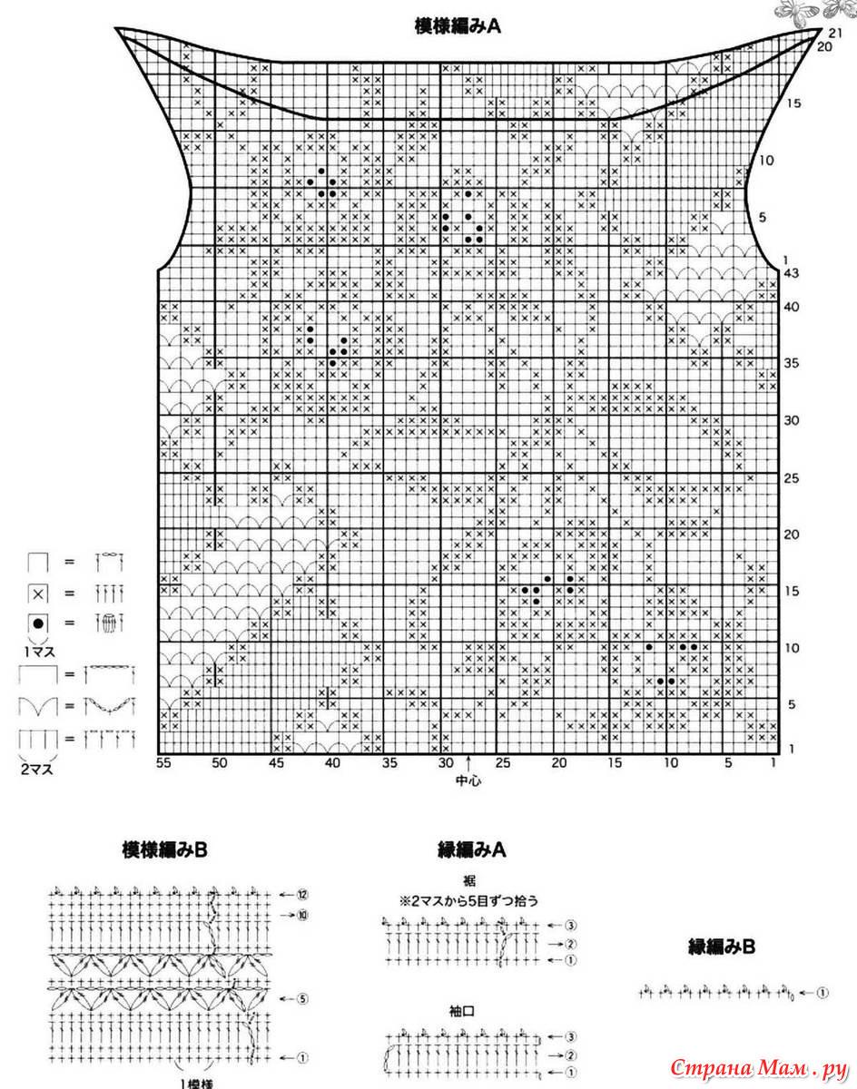 Схемы филейного вязания крючком летние кофточки