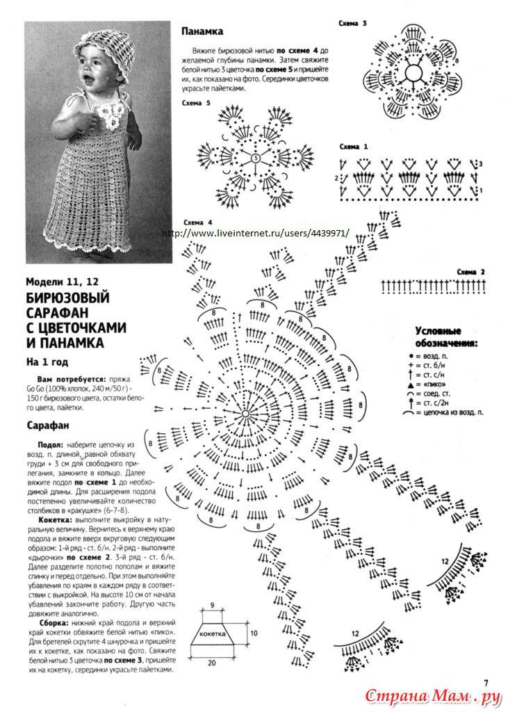 Фото и схемы вязанных сарафанов