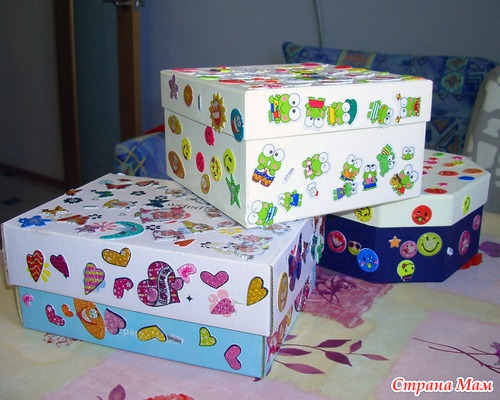 как красиво украсить коробку