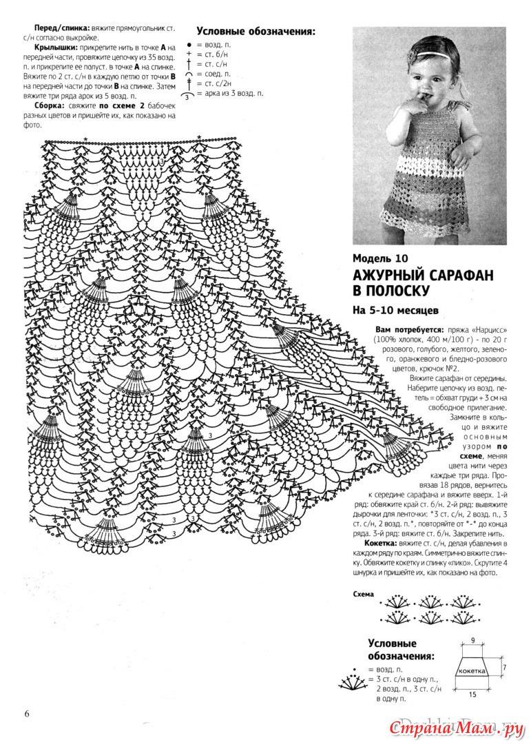 Вязание крючком схемы платья для девочек схемы