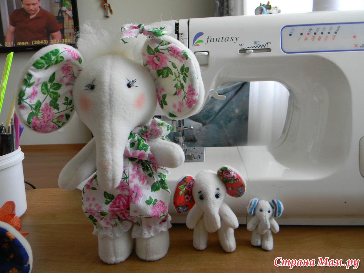 Сшить своими руками слоника