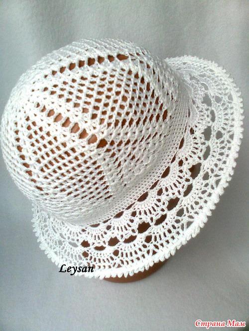 вязание крючком детские летние шляпы схемы