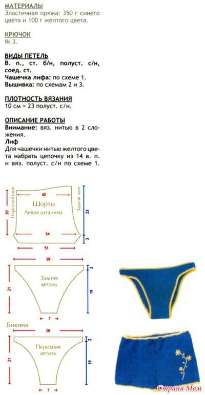 Вязанные крючком шорты схемы и описания