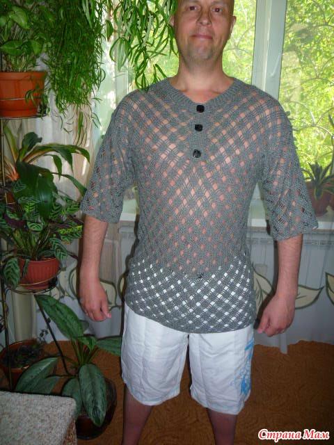 Мужская рубашка вязать
