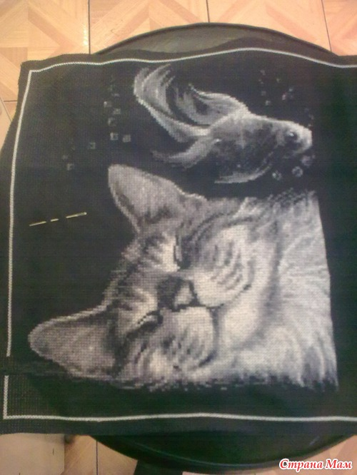я вышивать на черной канве