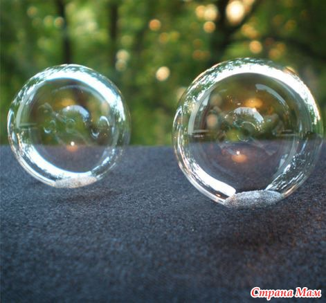 Как сделать что бы мыльные пузыри не лопались