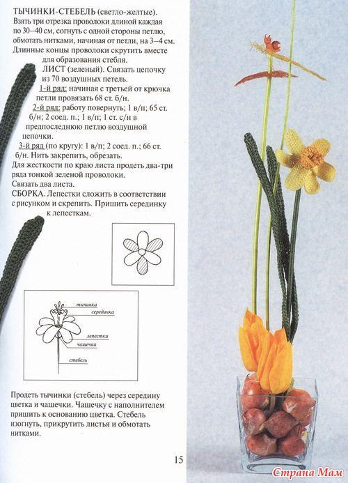 Подробные описания и схемы даны к каждому цветку.