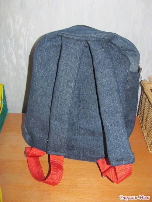 Рюкзак своими руками из джинсов