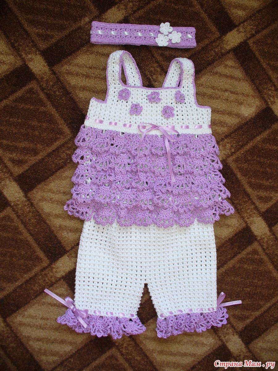 Вязание шортиков крючком для девочек 3 года