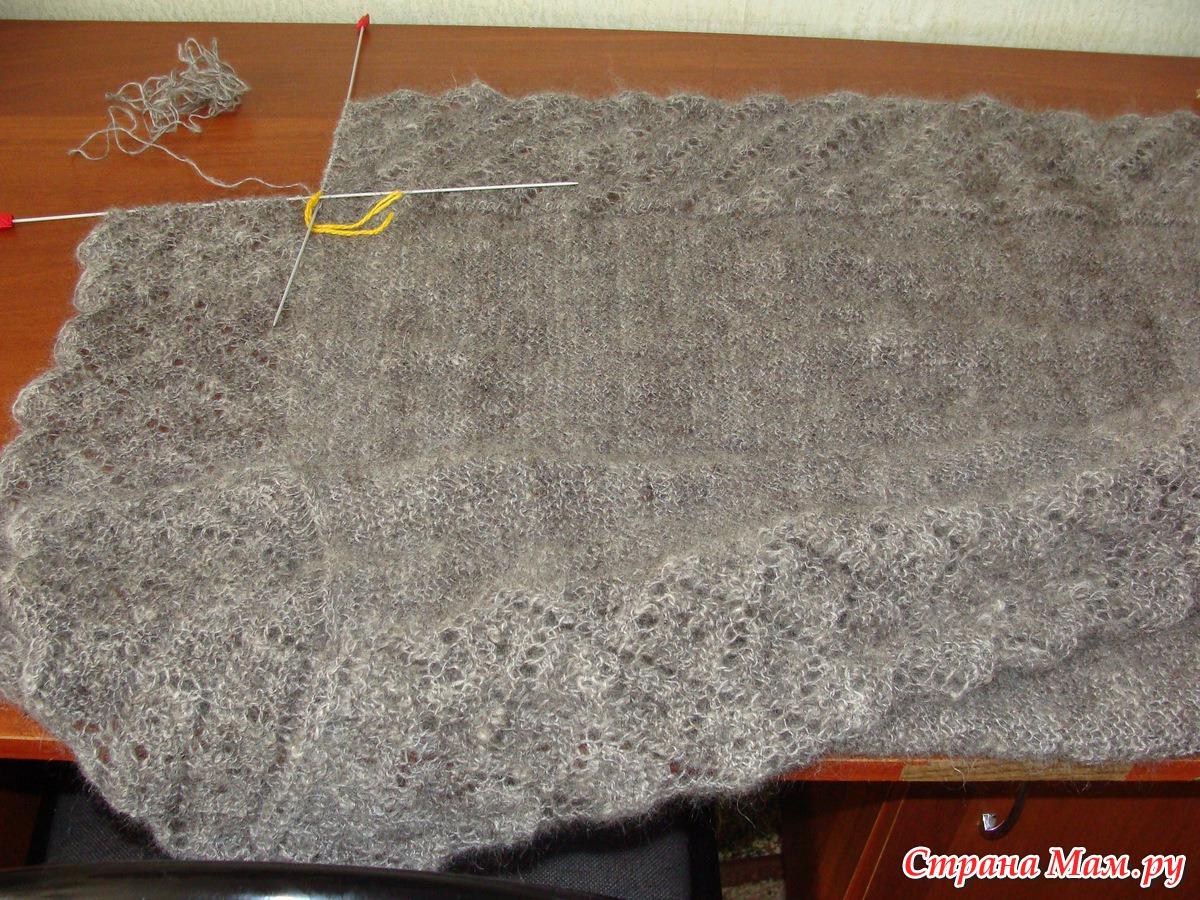 Вязание на спицах из пуха