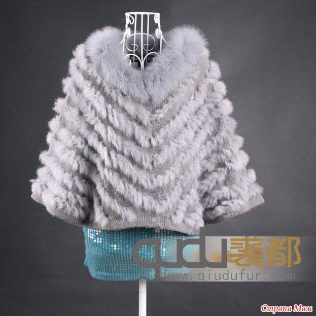 Вязание спицами с меховыми нитями