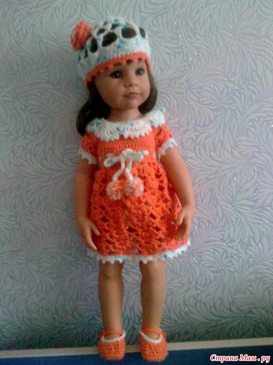 Мк по вязанию платья на куклу