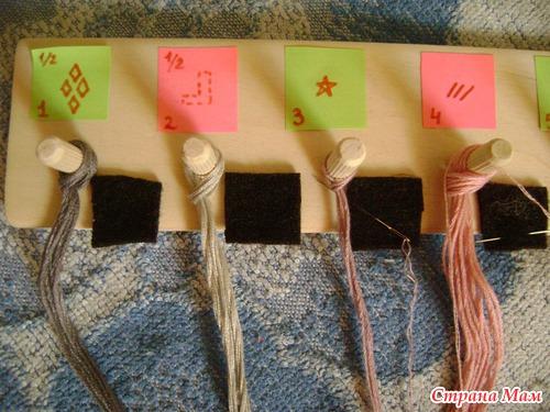 Как хранить нитки во время вышивки