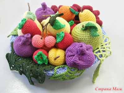 вязаных овощей и фруктов)