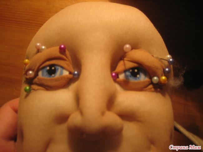 Как сделать кукле веко