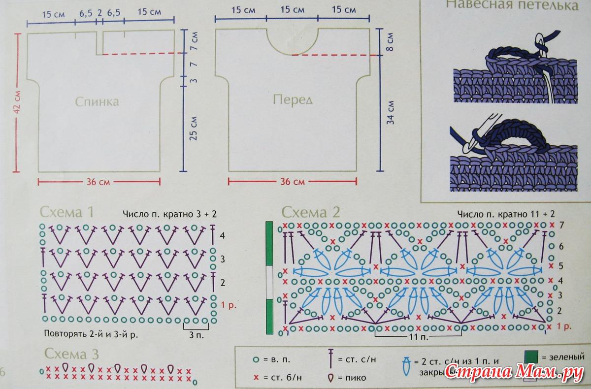 Вязание крючком кофточки для девочек схемы и