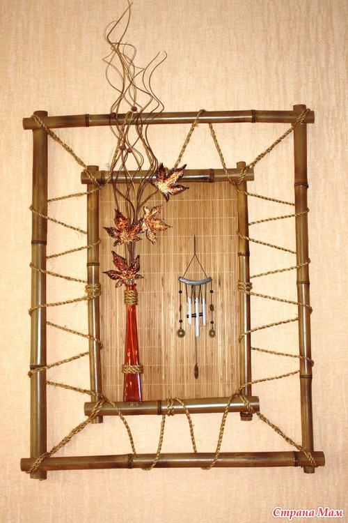 Своими руками рамка из бамбука