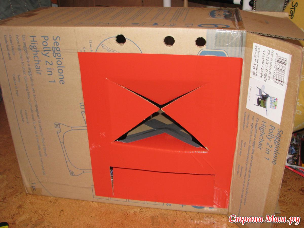 Делаем камин из коробки от телевизора своими руками: пошаговая инструкция 47
