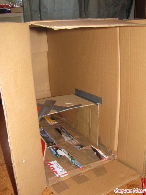Кухонный гарнитур из коробок