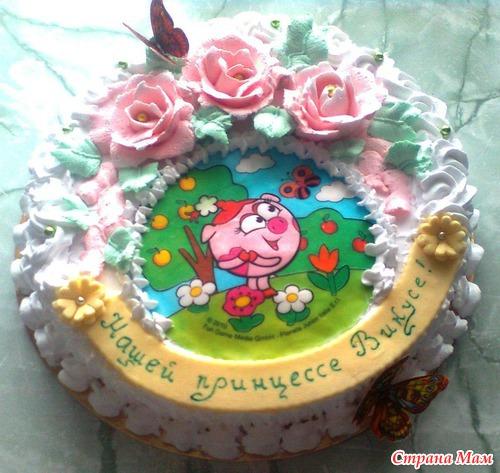 Фото тортов детских город николаев