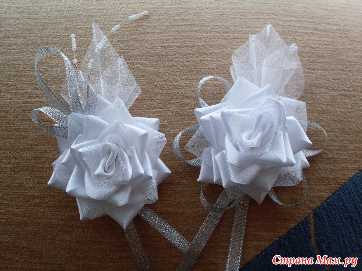 Бутоньерка на свадьбу своими руками канзаши