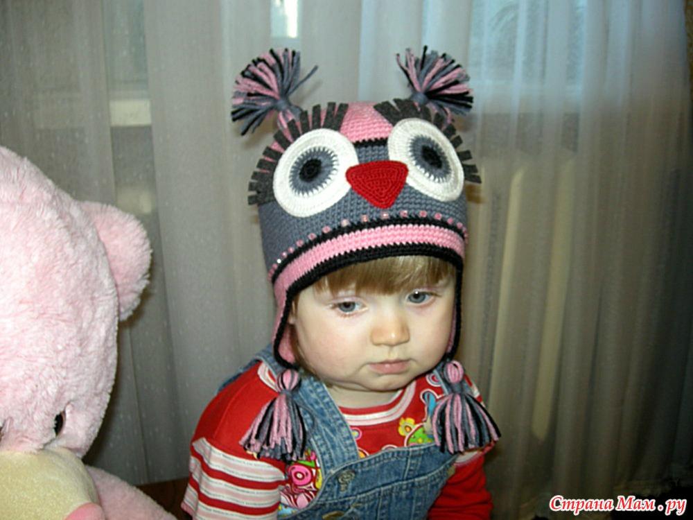 Детская шапка крючком мастер класс