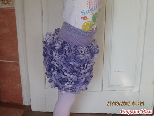 Вязаные юбки с воланами