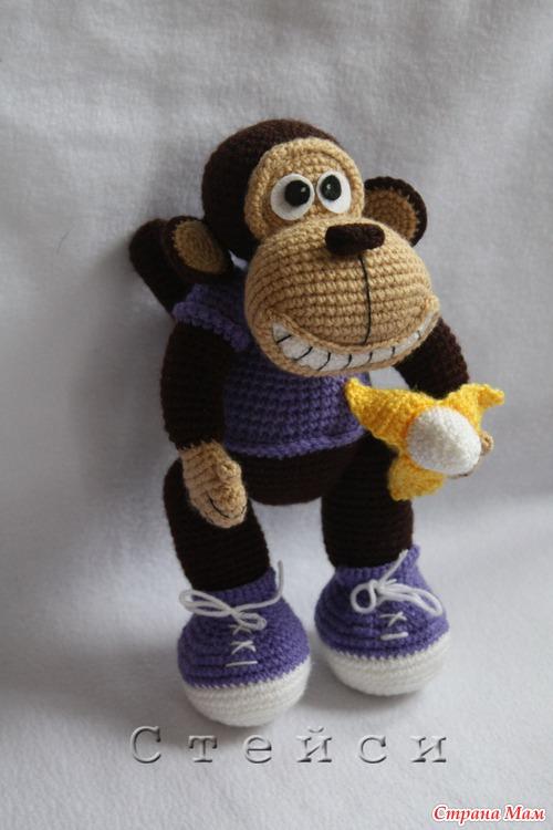 страна мам вязаная обезьяна