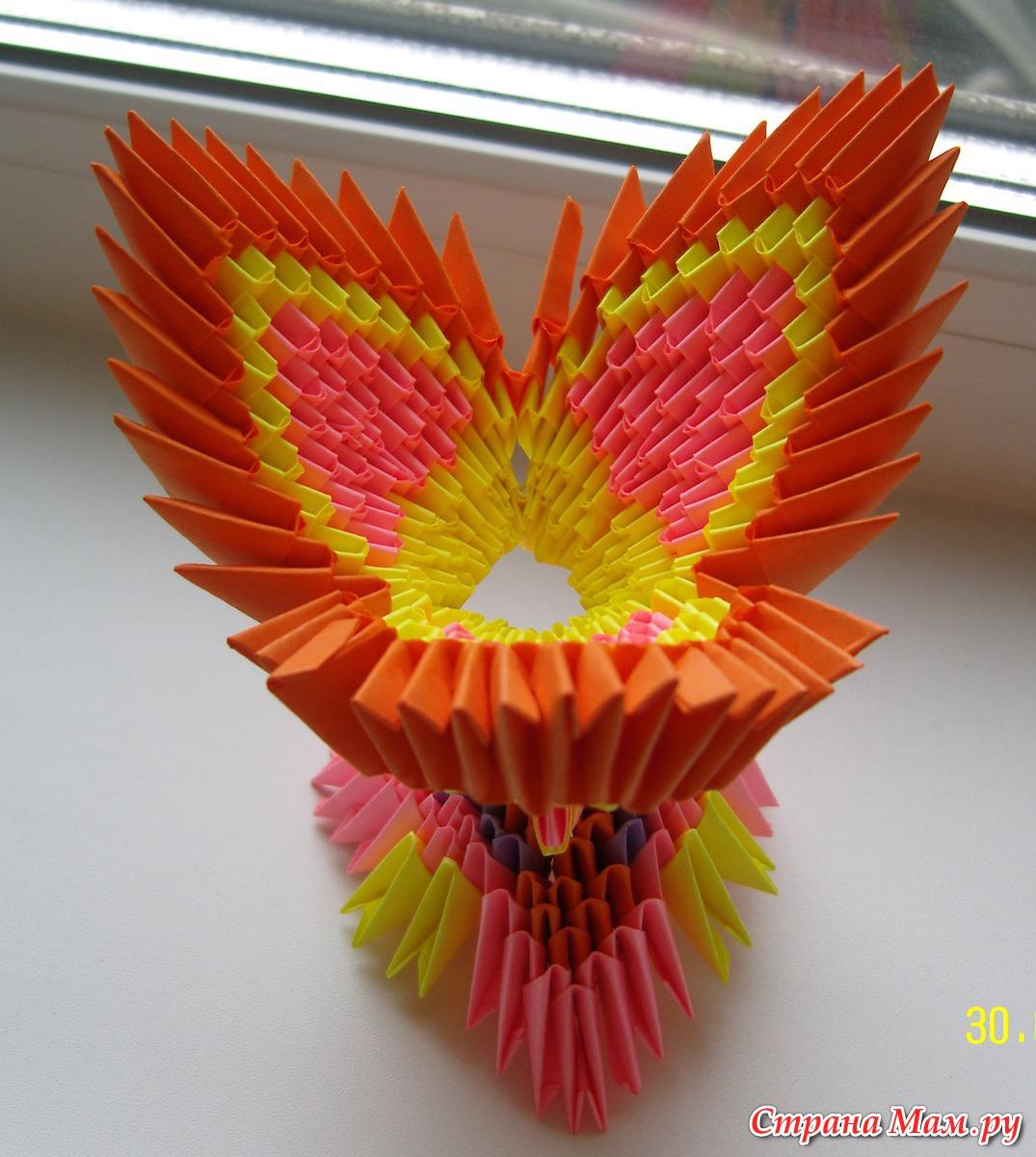 Модульные оригами подставка для яйца