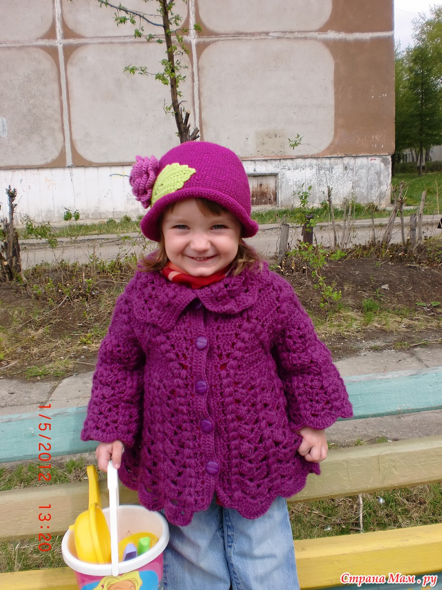 Вязание крючком пальто девочками