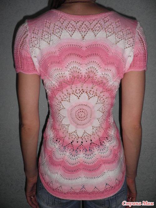 Пуловер с круговым узором