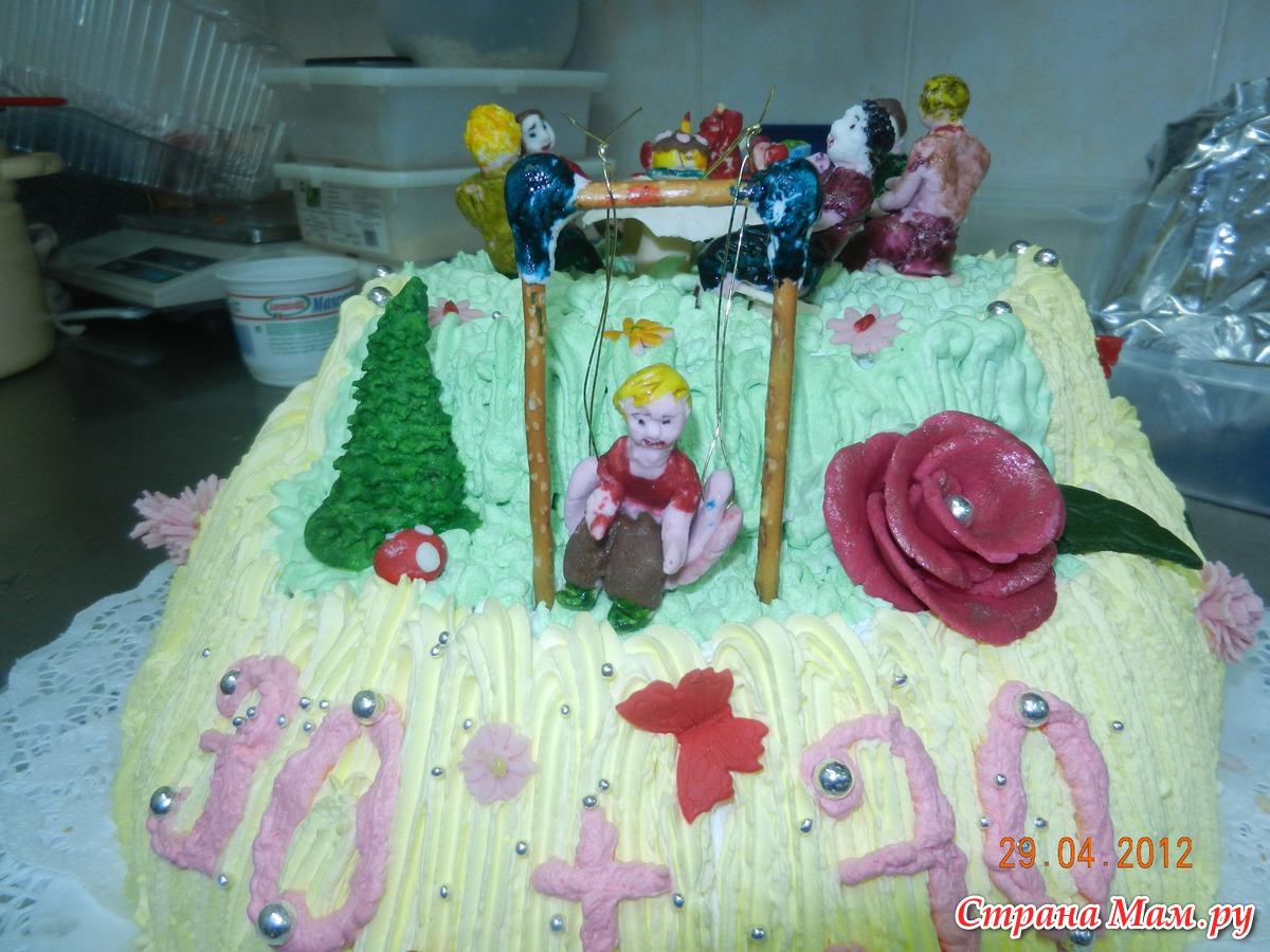 Торт ребенку на день рождения без мастики фото