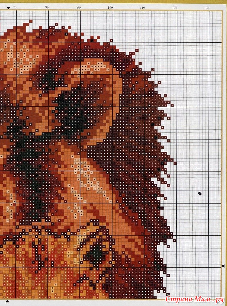 Вышивка крестиком и их схемы львы 527