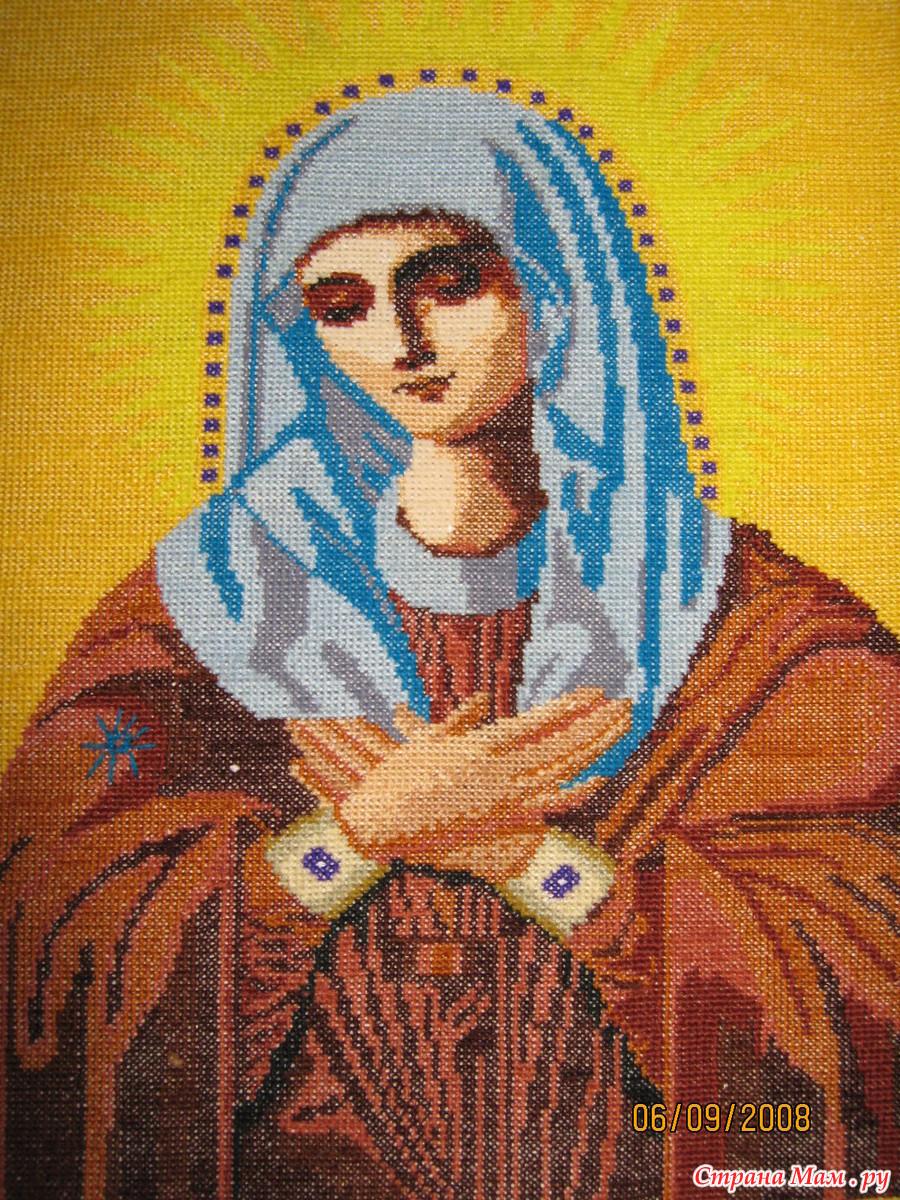 Получить благословение на вышивку икон