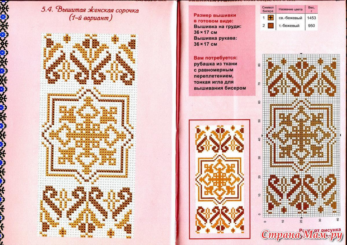 Схема для вишивки бісером сорочок