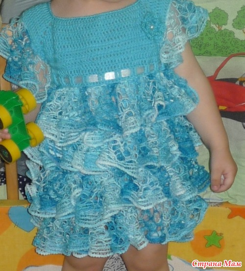 Пряжа для вязания крючком для детей платья