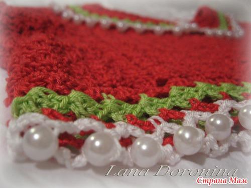 Платье Летние маки (ткань+вязание)