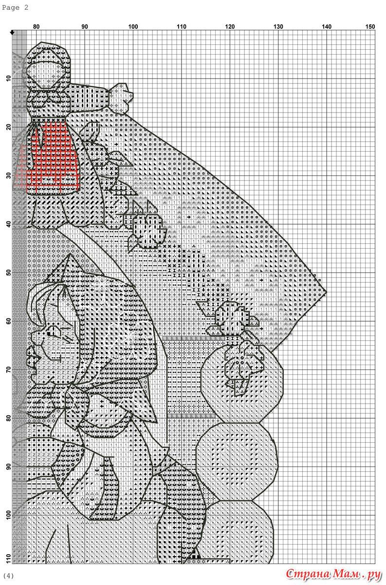 Схема вышивки крестом оберега от зависти и злых людей