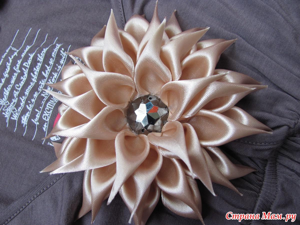 Резинки для волос из атласных лент фото