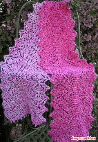 Схема вязания узора для шарфа