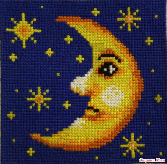 Вышивка солнце луна