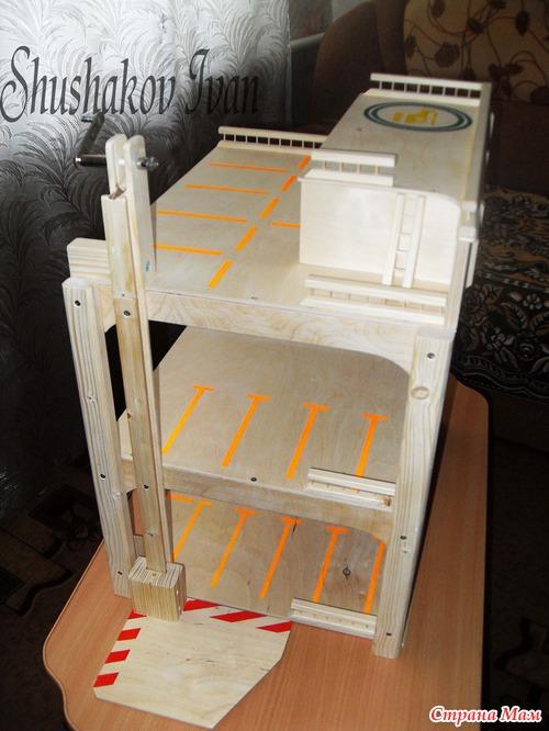 Игрушечный гараж для машинок своими руками - Компания Экоглоб