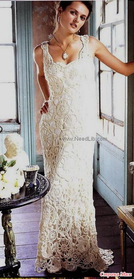 Вязание крючком шикарное платье