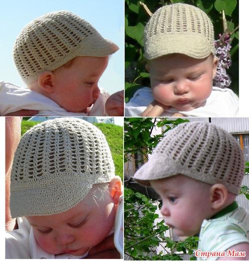 Вязание крючком шапочек для лета детям до  639