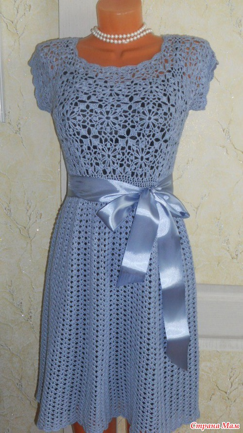 Платье крючком шанель