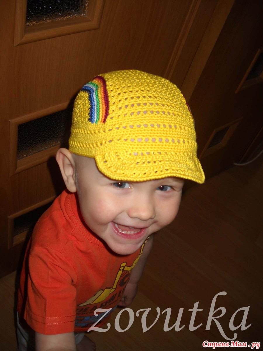 Вязание головных уборов для детей фото