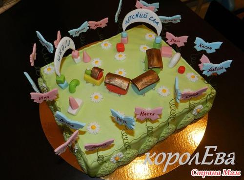 Торт на детский выпускной фото