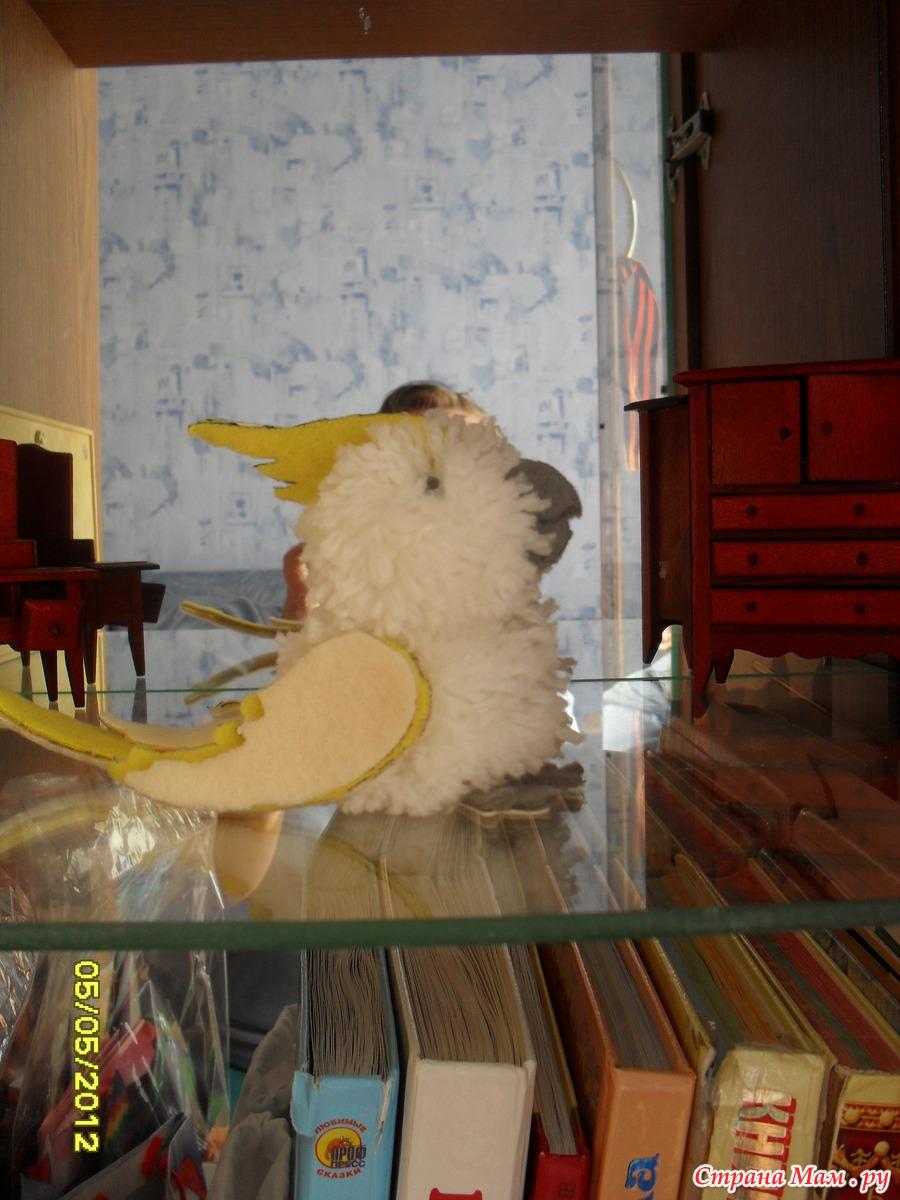 Попугай своими руками из помпонов