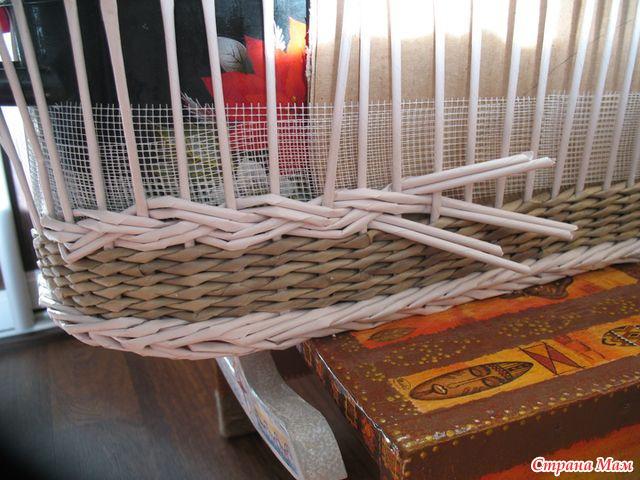 Люлька для кукол - мастер-класс - ГАЗЕТНОЕ ЧУДО - плетение из газет - Страна Мам