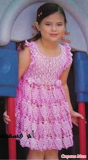 Платье для девочки крючком 7 лет